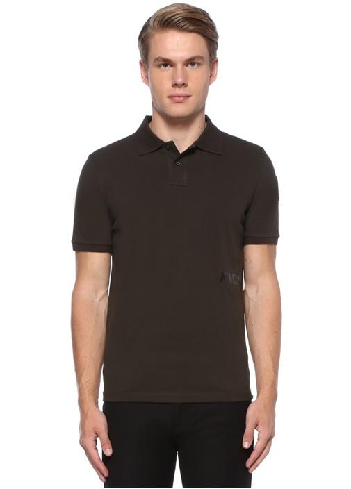 Haki Logo Baskılı Polo Yaka T-shirt