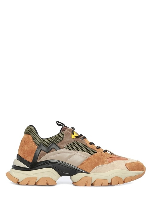 Terance Colorblocked Erkek Deri Sneaker