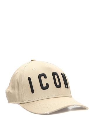 Erkek Icon Haki Siyah Logo Nakışlı Şapka EU