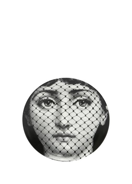 No 78 Yüz Baskılı Porselen Dekoratif Tabak