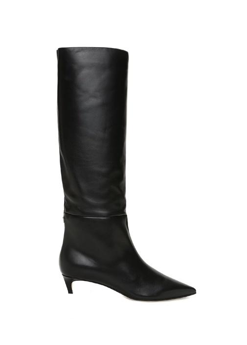 Maxima Siyah Kadın Deri Çizme