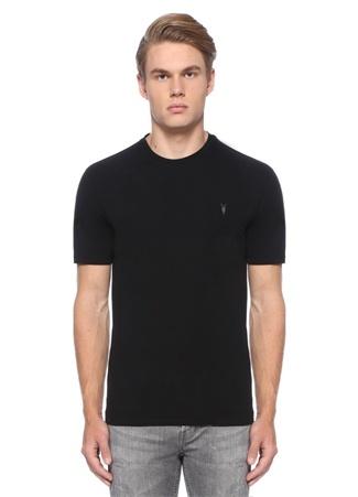 Brace Siyah Logolu Bisiklet Yaka Basic T-shirt