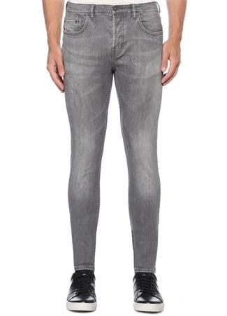 Straight Skinny Fit Rex Gri Jean Pantolon
