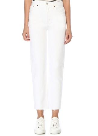 Re/Done Kadın Stove Pipe Beyaz Yüksek Bel Jean Pantolon 24 US