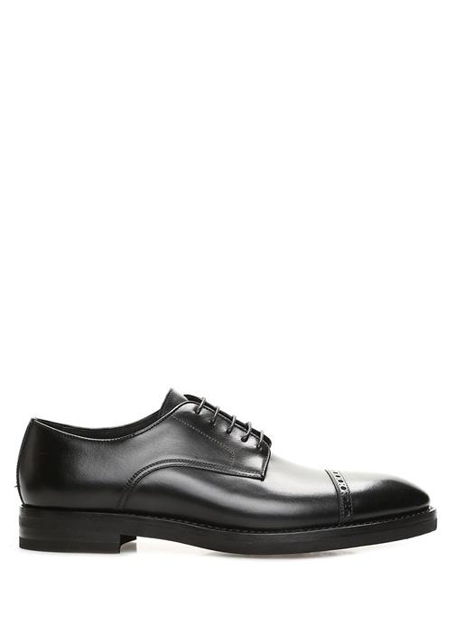 Siyah Şerit Detaylı Erkek Deri Ayakkabı
