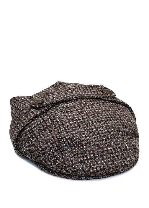 Pötikareli Bant Detaylı Erkek Yün Şapka