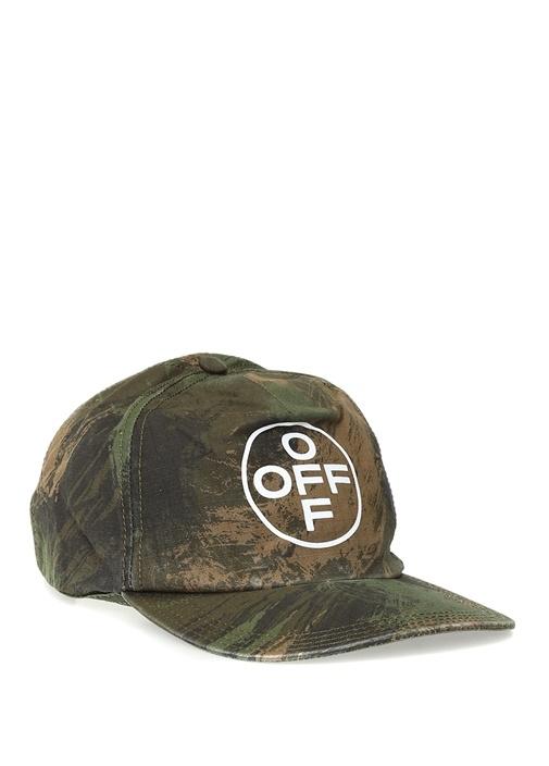 Kamuflaj Desenli Logolu Erkek Şapka