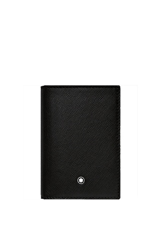 Montblanc Unisex Sartorial Siyah Logolu Deri Kartvizitlik EU unisex Standart