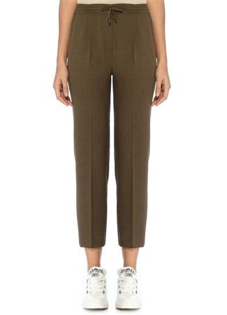 Beymen Club Kadın Haki Beli Büzgülü Pijama Formlu Pantolon 34 female