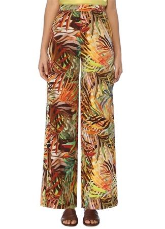 Beymen Club Kadın Tropikal Desenli Bol Paça İpek Pantolon 40 Çok Renkli female