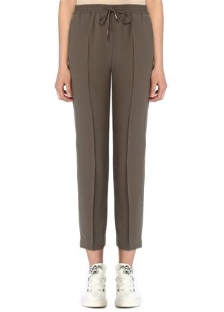 Beymen Club Kadın Haki Zincir Şeritli Krep Pijama Pantolon 34 female