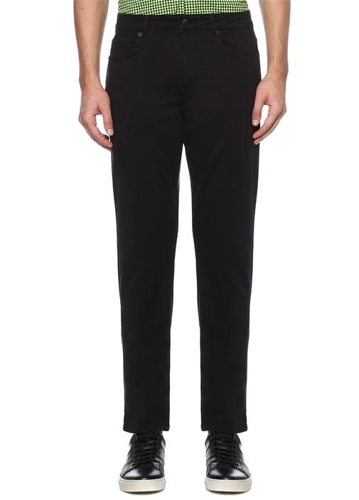 Slim Fit Siyah Kanvas Spor Pantolon