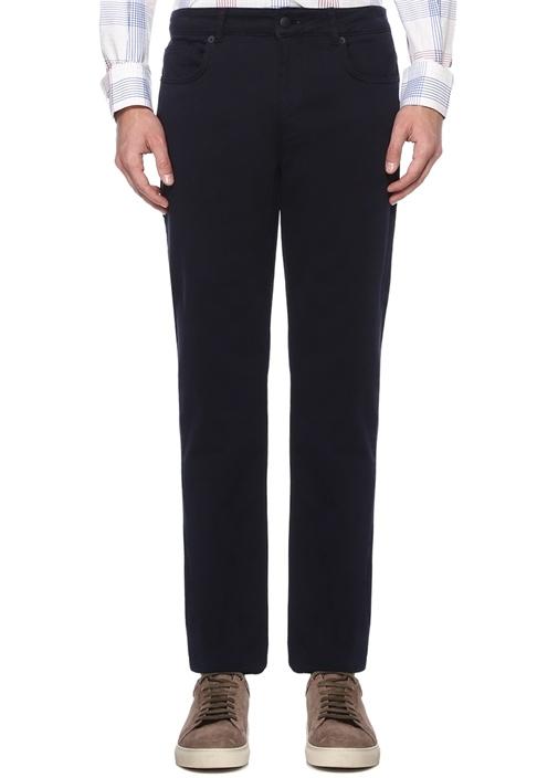 Slim Fit Lacivert Kanvas Spor Pantolon