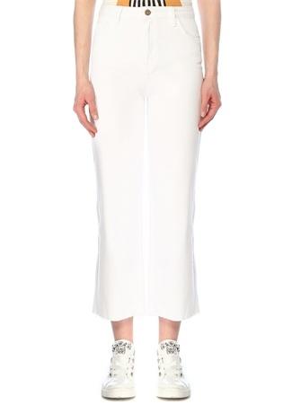 Beymen Club Kadın Beyaz Yüksek Bel Bol Paça Crop Jean Pantolon 28 female