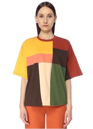 Beymen Club Kadın Colorblocked Düşük Omuzlu T-shirt Bej S female