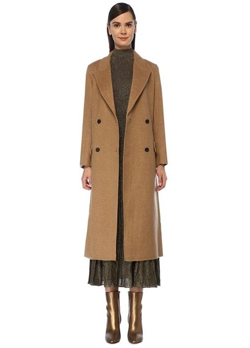Kamel Kırlangıç Yaka Kruvaze Palto