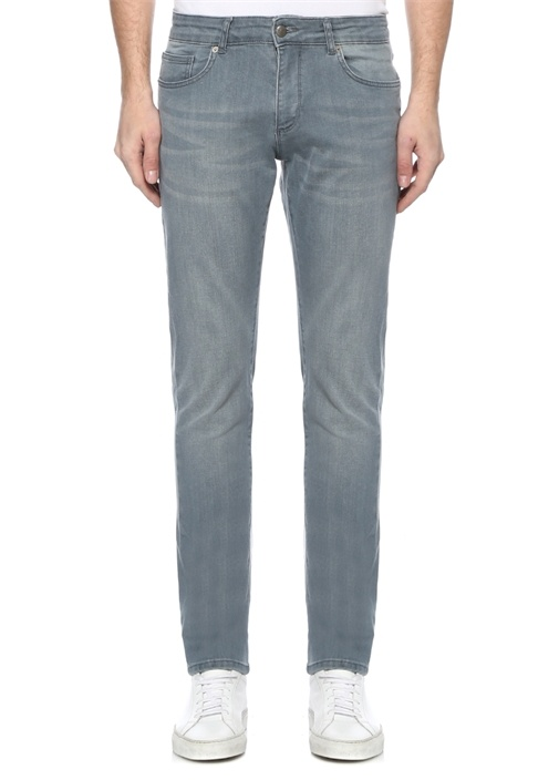 Slim Fit Gri Jean Pantolon