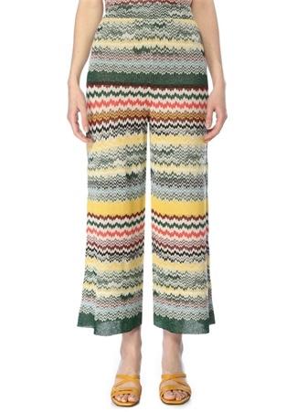 Beymen Club Kadın Colorblocked Desenli Triko Pantolon XL Çok Renkli female