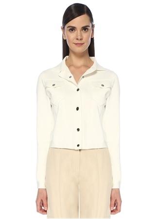 Beymen Club Kadın Beyaz Triko Trucker Ceket S female