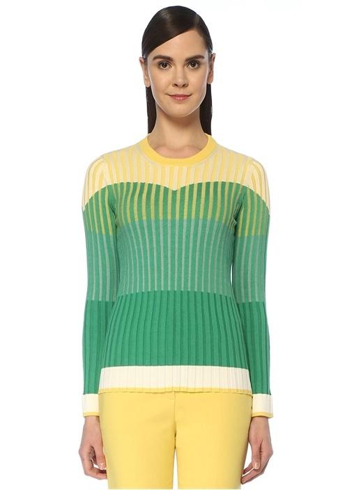 Sarı Yeşil Bloklu Ribli Kazak