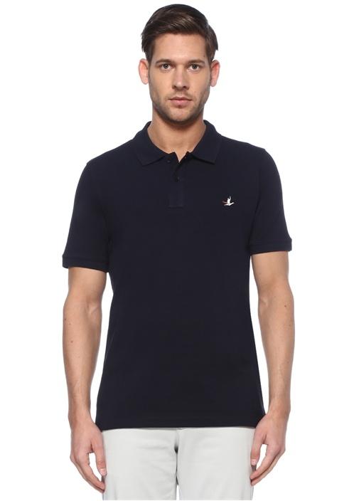 Comfort Fit Lacivert Polo Yaka Logolu T-shirt