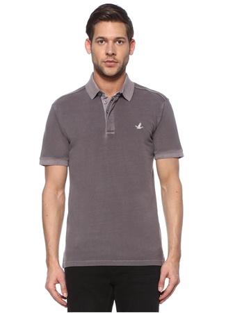 Beymen Club Erkek Slim Fit Antrasit Pike Dokulu Polo Yaka T-shirt Gri XXL male