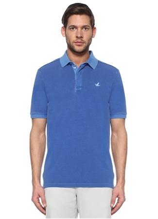 Beymen Club Erkek Comfort Fit Mavi Pike Dokulu Polo Yaka T-shirt XL male