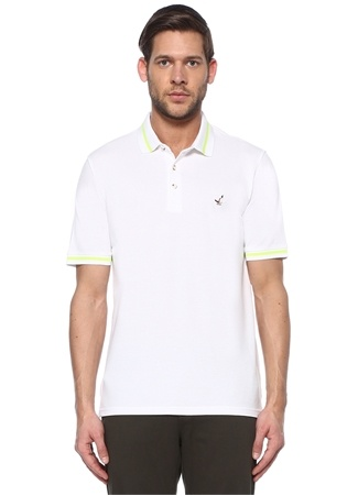 Beymen Club Erkek Comfort Fit Beyaz Çizgi Detaylı T-shirt XL male