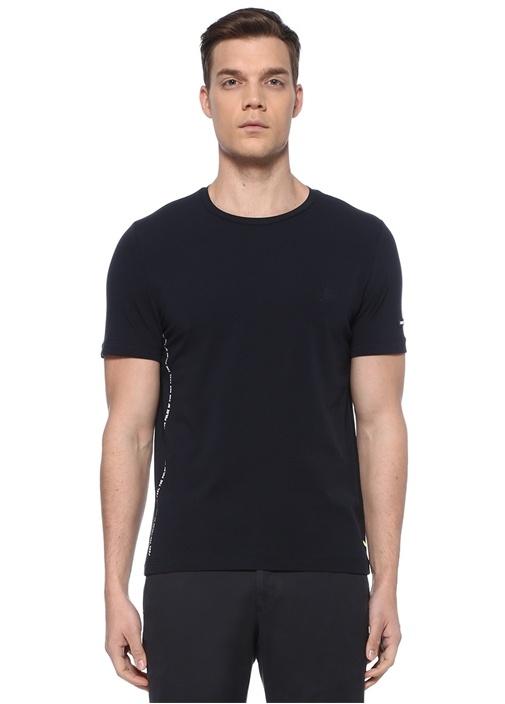 Lacivert Kuşgözü Detaylı Logo Patchli Basic Tshirt