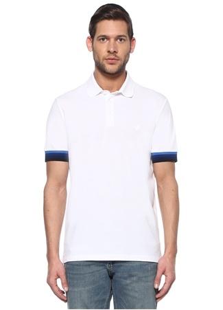 Beymen Club Erkek Slim Fit Beyaz Polo Yaka Şerit Ribanalı T-shirt XXL male
