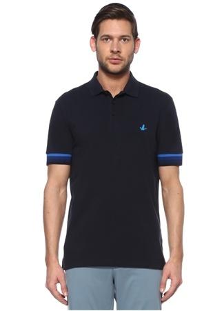 Beymen Club Erkek Slim Fit Lacivert Polo Yaka Şerit Ribanalı T-shirt M male