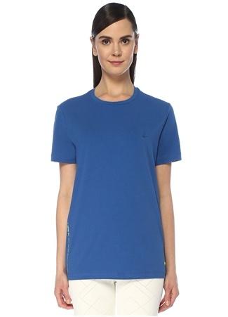 Beymen Club Erkek Mavi Yazı Baskılı Kuşgözü Detaylı T-shirt XS male
