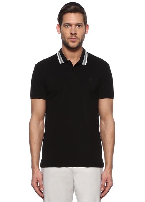 Slim Fit Siyah Yakası Çizgili T-shirt