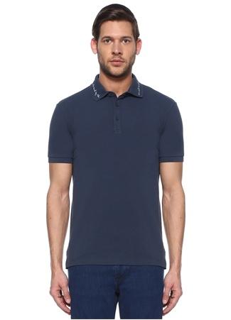 Beymen Club Erkek Slim Fit Lacivert Slogan Baskılı Polo Yaka T-shirt male