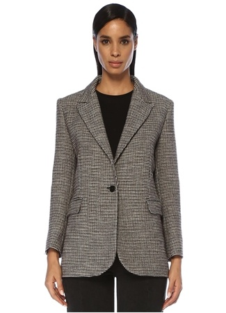 Maje Kadın Gregor Kazayağı Desenli Blazer Ceket Gri 38 FR female