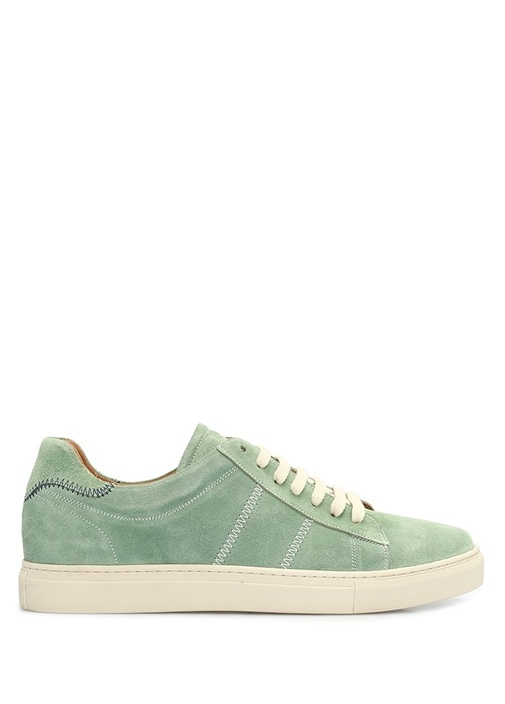 Yeşil Erkek Nubuk Sneaker