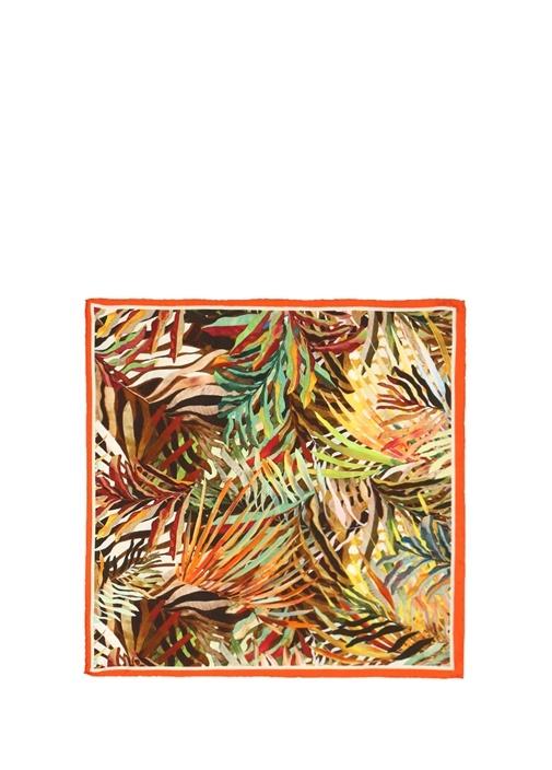 Colorblocked Desenli 50x50 cm Kadın İpek Eşarp