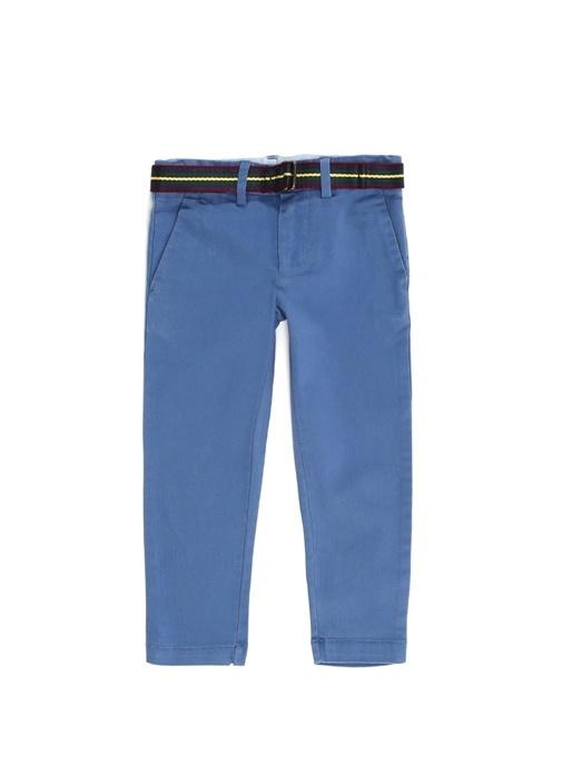 Mavi Beli Kemerli Erkek Çocuk Dar Paça Pantolon