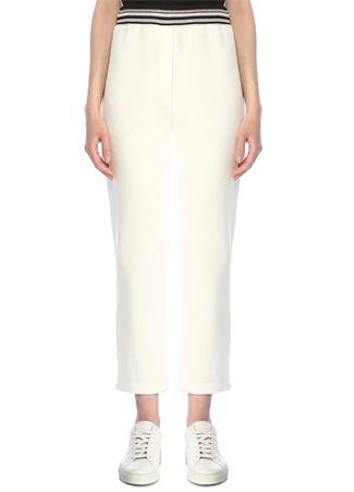 Beymen Collection Kadın Beyaz Rib Detaylı Eşofman Altı S female