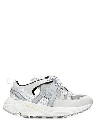 Beyaz Dekolte Detaylı Garnili Kadın Sneaker