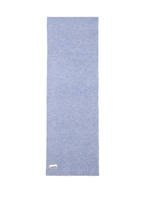 Mavi Logo Patchli Kadın Yün Atkı