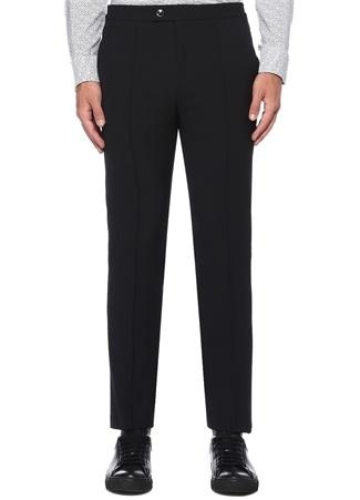 Siyah Normal Bel Pilili Boru Paça Pantolon
