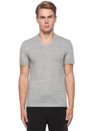 Gri Melanj V Yaka Basic T-shirt