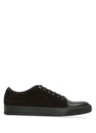 Lanvin Erkek Siyah Süet Deri Sneaker 5 UK male