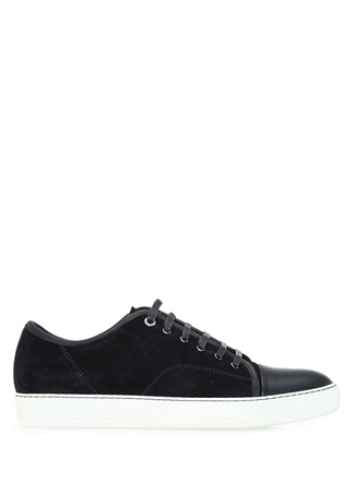 Lanvin Erkek Lacivert Garnili Süet Sneaker 8 UK male
