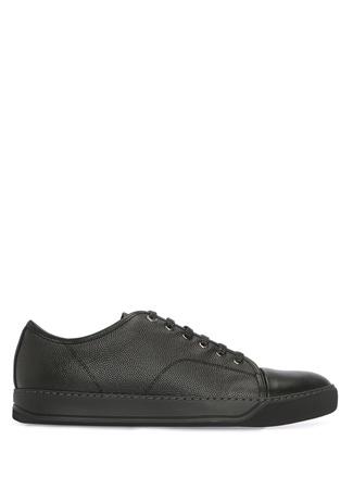 Lanvin Erkek Siyah Dokulu Deri Sneaker 6 UK male