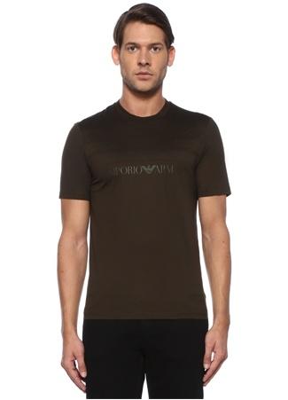 Haki Logo Baskılı Basic T-shirt