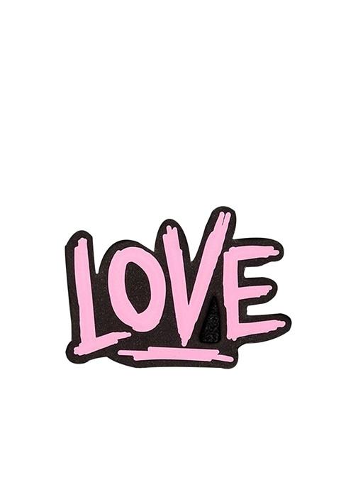 Pembe Love Formlu Sticker