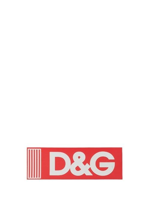Kırmızı Dikdörtgen Formlu Logolu Sticker