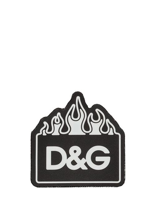 Siyah Beyaz Kare Formlu Logolu Sticker